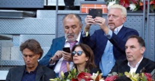 Ion Tiriac, Boris Becker und Entourage
